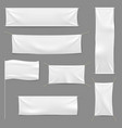 white textile banners blank fabric flag hanging vector image vector image