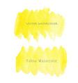 yellow brush stroke watercolor vector image