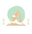 yoga practice vector image