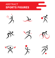 Abstract sports shapes vector image