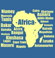 africa map yellow on white background vector image