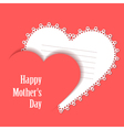 Happy Motherss Day Card with lace heart vector image