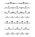 Set of calligraphic design elements and page decor vector image