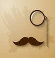 mustach and monocle vector image