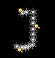 Abstract star J alphabet character vector image