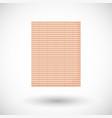 bamboo carpet flat icon vector image