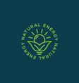 natural energy logo vector image
