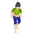 a girl having stomach pain vector image