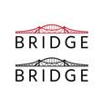 abstract bridge construction design template vector image vector image