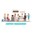 airport cartoon vector image vector image