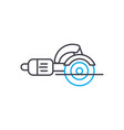 angle grinder thin line stroke icon angle vector image vector image
