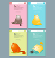Animal banner with Cat story for web design 2 vector image vector image