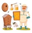 Apiary beekeeper vector image