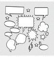art background black bubble burst cartoon vector image vector image