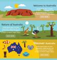 australia travel banner horizontal set flat style vector image vector image
