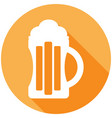 beer icon with a long shadow vector image vector image