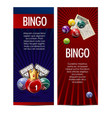 bingo lotto lottery banners template vector image vector image