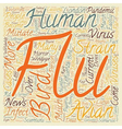 Bird Flu Explained text background wordcloud vector image vector image