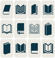 Book icons collection vector image vector image
