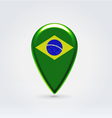Brazilian icon point for map