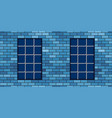 brick wall and grating vector image
