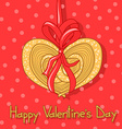 Card for Valentines Day with cookie vector image vector image