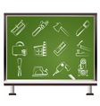 chalk woodworking industry vector image vector image