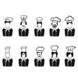 chefs head icon vector image vector image