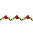 christmas horizontal seamless background vector image vector image