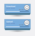 cloud download and upload 7 vector image vector image