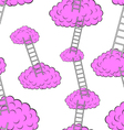 Clouds with stairs seamless wallpaper vector image vector image