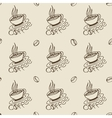 Coffee Cups and Beans Seamless Pattern vector image vector image