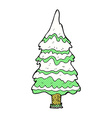 comic cartoon christmas tree vector image vector image