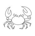 Crab icon outline style vector image vector image