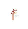 development creative logo line typography vector image