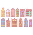 europe house or apartments set doodle sketch vector image vector image