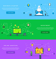 Flat Design Concepts for Web Banners and vector image vector image