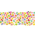 fruit seamless border repeating horizontal vector image vector image