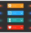 Glowing glass infographics options banners vector image