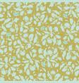 gold and blue folk art floral pattern vector image