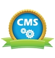 Gold cms logo vector image vector image