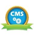 Gold cms logo vector image