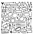 hand drawn arrow marks set vector image vector image