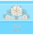 Hand Drawn Camomiles Background vector image