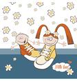 Happy Birthday chamomile vector image vector image