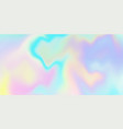holographic iridescent background rainbow vector image vector image