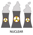 Isolated nuclear power plant icon vector image vector image