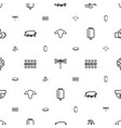 logo icons pattern seamless white background vector image vector image