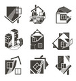 logos in the form of houses vector image vector image
