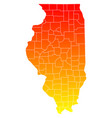 map illinois vector image vector image